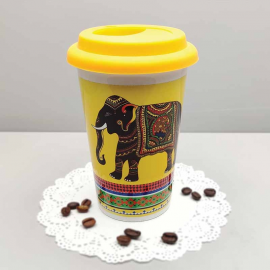 Elephant Majesty cafe mug