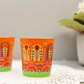 Truck Art candle votives