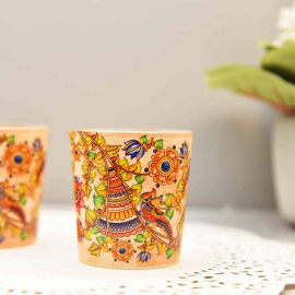 Kalamkari candle votives