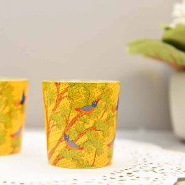 Gond Art candle votives