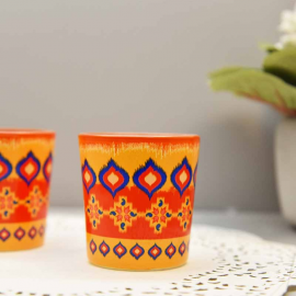 Dazzling Ikat candle votives