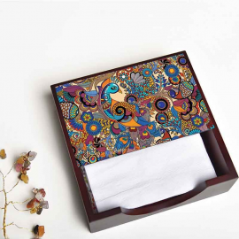 Peacock Admiration NAPKIN BOX