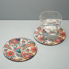 FLORAL PASSION WOODEN COASTER