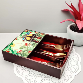 Tropical Rain Forest World Toucan Inspired Cutlery Box