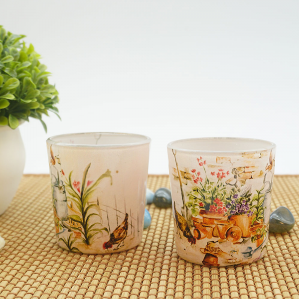 A Joyous English Garden Party Candle Votives