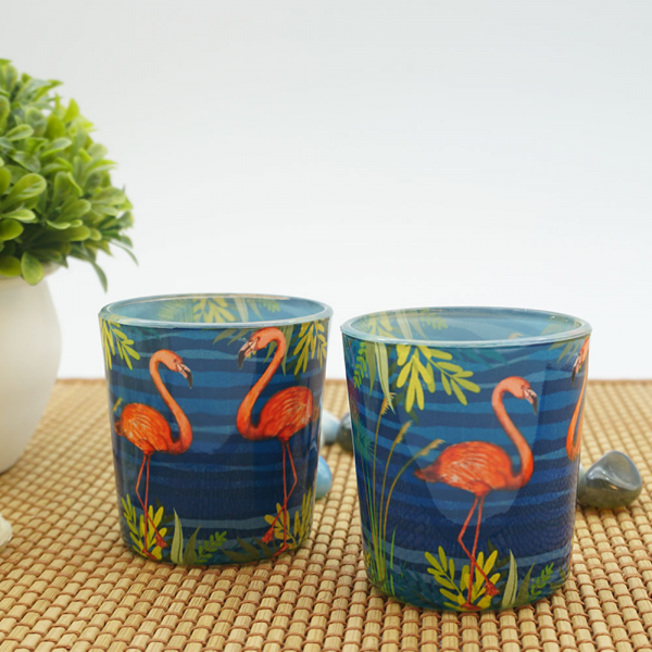 Flamingos From the Tropical World Candle Votives