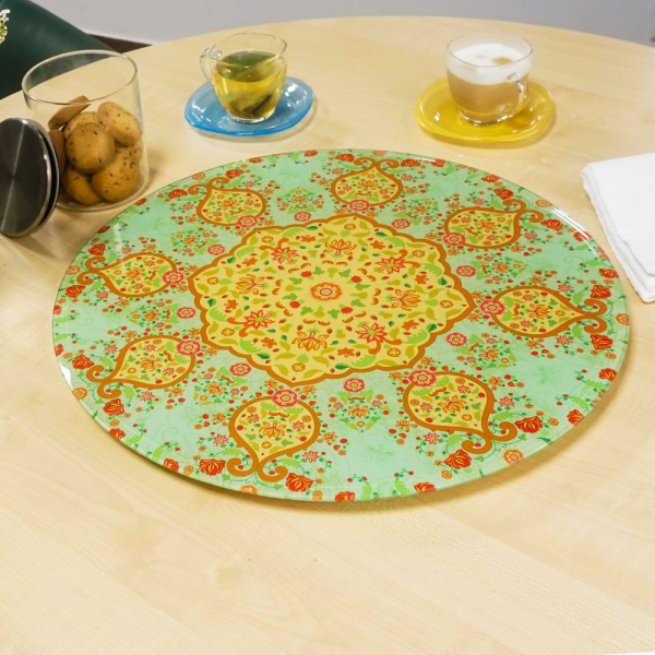 "Ornate Mughal Inspired ""LAZY SUSAN"" Turn Table"