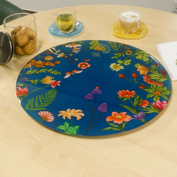 "Floral Bliss Inspired ""LAZY SUSAN"" Turn Table"